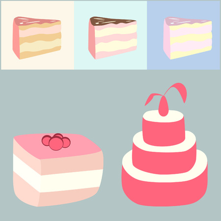 cartoon cakes Vector