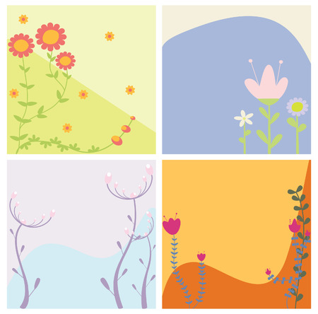 abstract flowers Stock Vector - 8009586