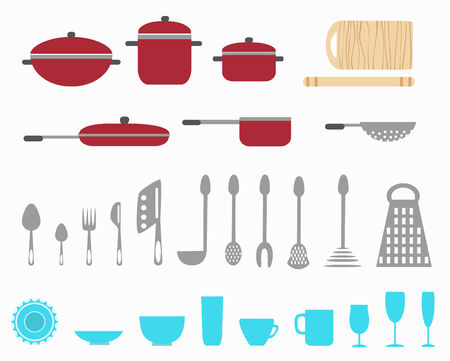 eating utensil: kitchen utensils Illustration