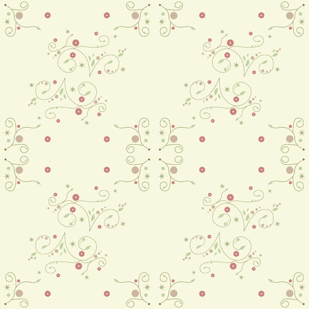 floral seamless background Stock Vector - 8248905