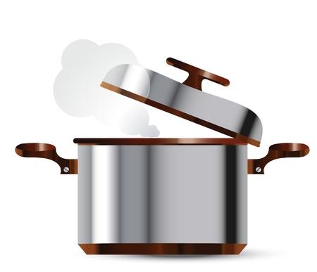 steel pan: plato de acero inoxidable Vectores
