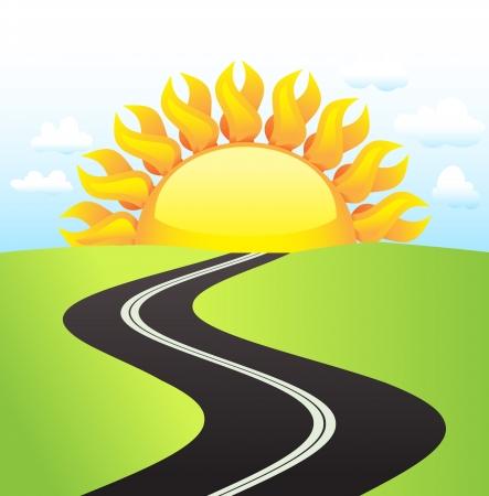 road in sunny day