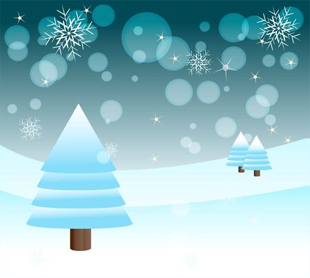 illustration of winter background with snowflakes Vector
