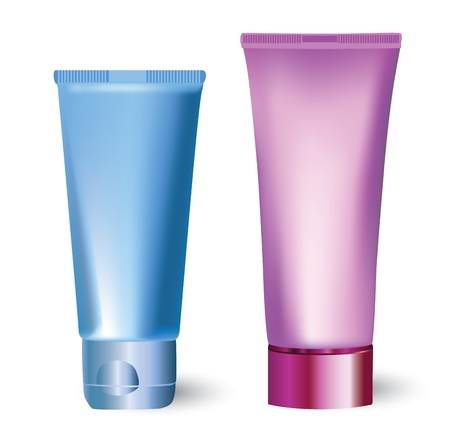 lotion: bottles of cosmetic products  Illustration