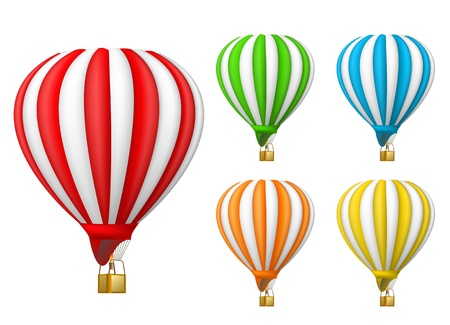 colored balloons: air balloon
