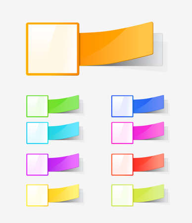 set of colour labels Vector