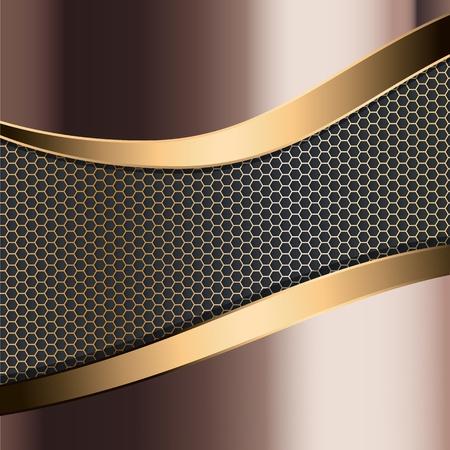 metallic achtergrond Vector Illustratie
