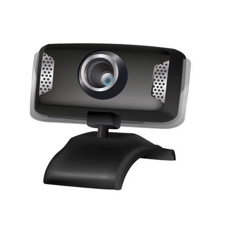 webcam: illustration of black webcam