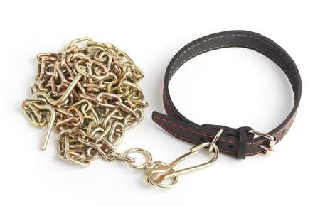 cadena rota: cadena y el collar Foto de archivo