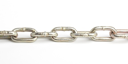 link up: chain Stock Photo