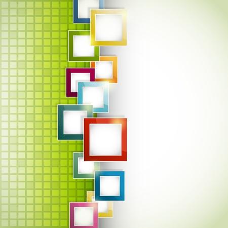 Fondo abstracto de color verde con cuadrados