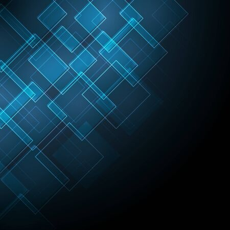 special effects: abstract dark blue background with rhombus