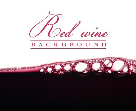 achtergrond met bellen van rode wijn
