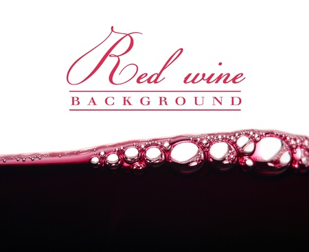 wine background: background with bubbles of red wine Stock Photo