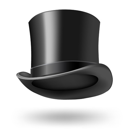 black getleman hat on white Stock fotó
