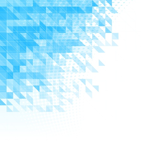 triangle objects: abstract blue background with triangles, squares and lines Illustration