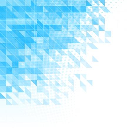 objetos cuadrados: fondo azul abstracto con triángulos, cuadrados y líneas