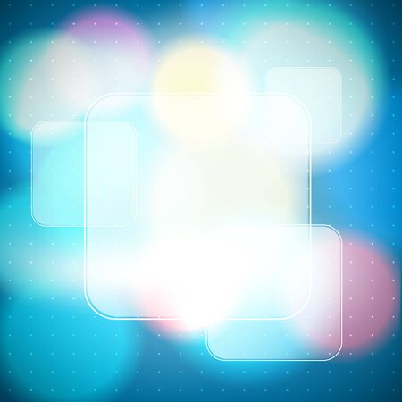 unfocused: bokeh background with frames as banners Illustration