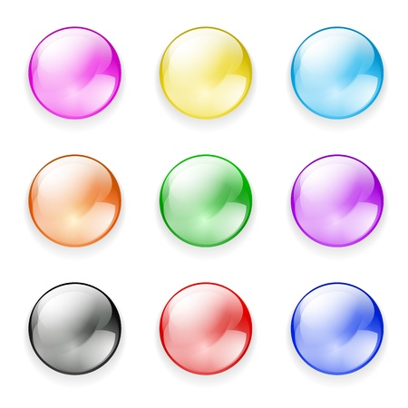 set of buttons Stock Vector - 19683921