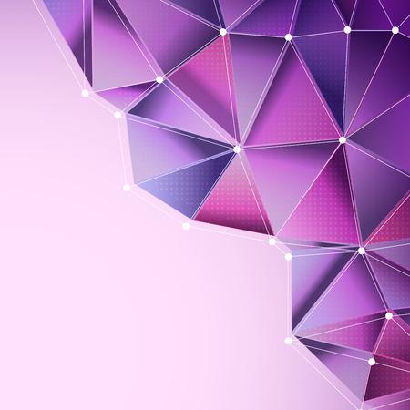 多角形デザインと抽象的な紫の背景
