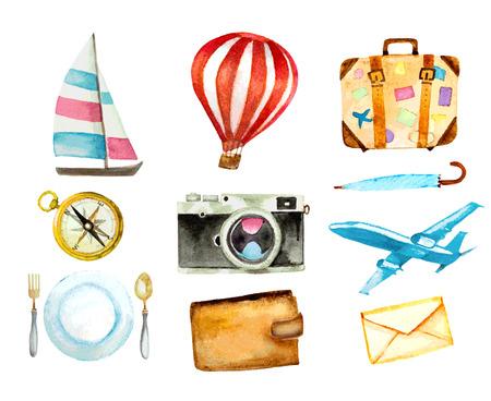 bussola: set di icone di turismo Vettoriali