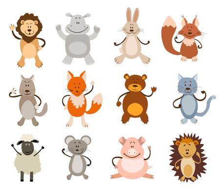 figures: set of cute animals. vector illustration