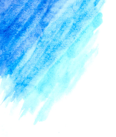 watercolor technique: light blue watercolor abstract background. vector Illustration