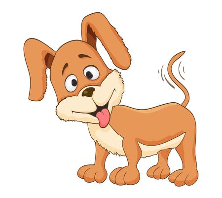 perro caricatura: lindo perro de dibujos animados.