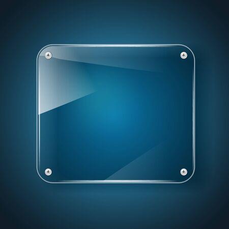 glass background: glass background on dark blue background