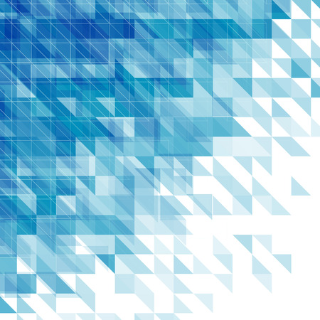 blue lines: abstract blue background with triangles, squares and lines Illustration