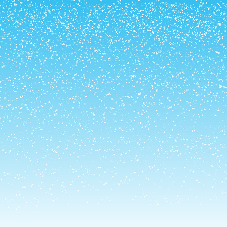 falling snow on light blue background. vector illustration