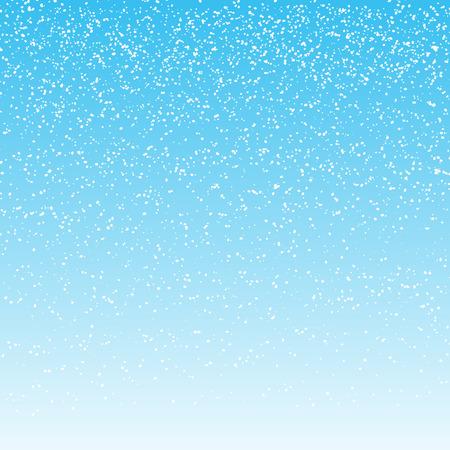 fondo para tarjetas: la caída de nieve en fondo azul claro. ilustración vectorial