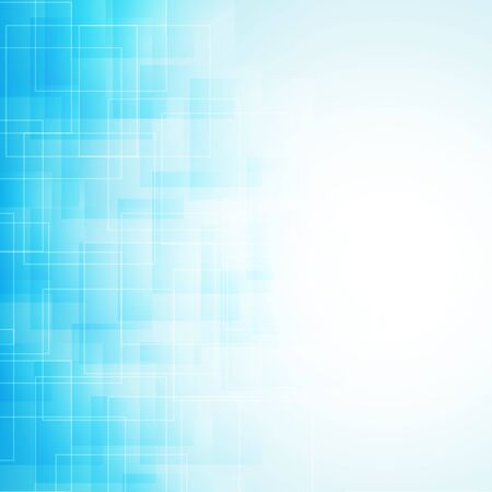 blue lines: abstract blue background with transparent lines and squares. vector