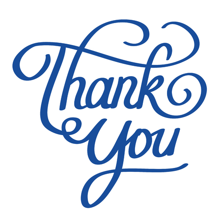 vector lettering illustration of thank you words