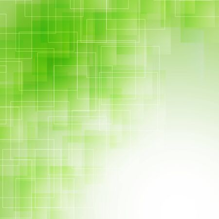 icy: abstract green icy background with transparent lines and squares. vector Illustration