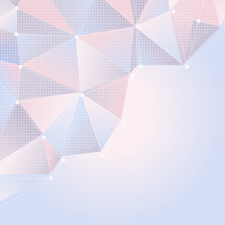 quartz crystal: abstract light rose and blue background with polygonal design Illustration