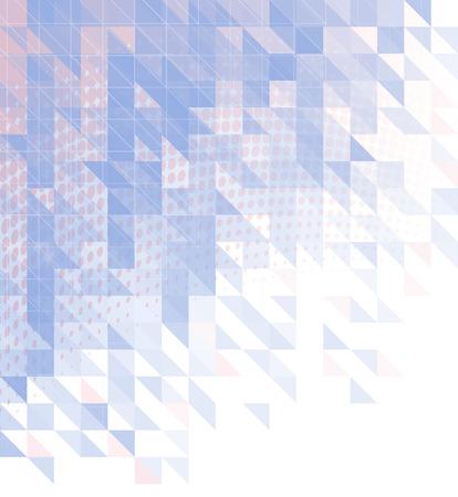 Sfondo astratto con triangoli, quadrati e linee. Sfondo modello di progettazione poligonale con colori alla moda