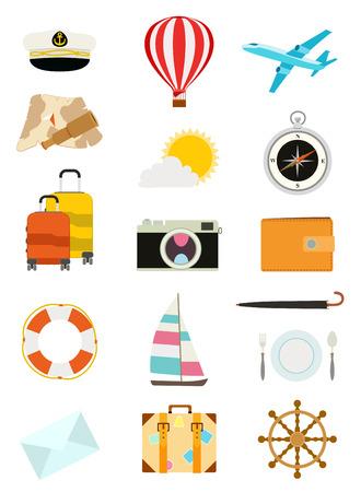 set van het toerisme iconen.