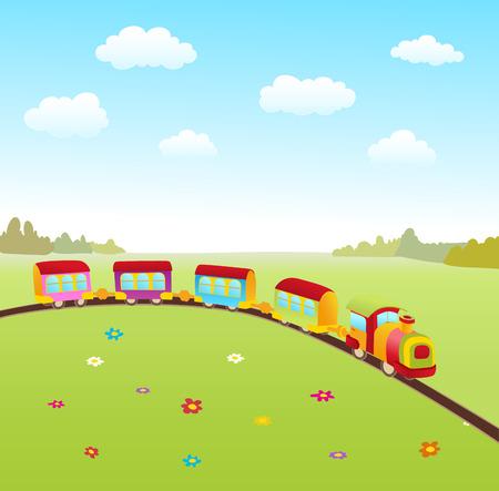 cartoon cute train. vector illustraton