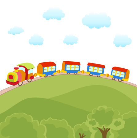 toy train: cute cartoon train vector illustration