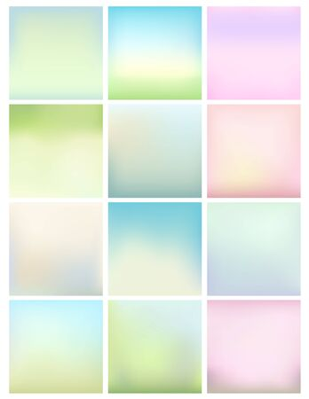 soft colors: set of soft pastel colors blurry backgrounds for Your design. vector illustration
