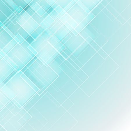 abstract background with transparent rhombus. geometric design with soft aqua color. vector illustration