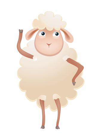 cartoon sheep fingering Illustration