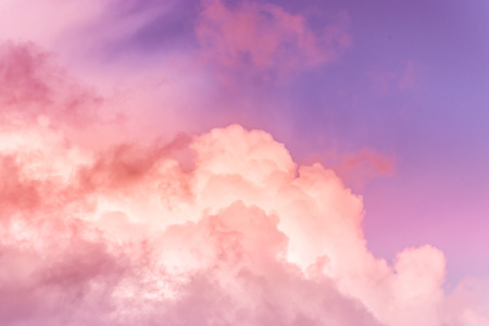 sky with effect of living coral colors. Color of the year 2019. livingcoral
