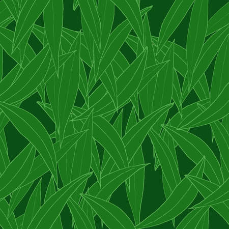 Vector seamless pattern with green leaves. Ecologic style. For textiles, fabrics, covers, wallpapers, print, wrapping gift