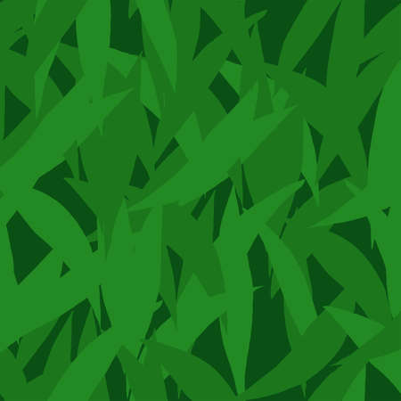 Vector seamless pattern with green leaves silhouettes. Ecologic minimalist style. For textiles, fabrics, covers, wallpapers, print, wrapping gift