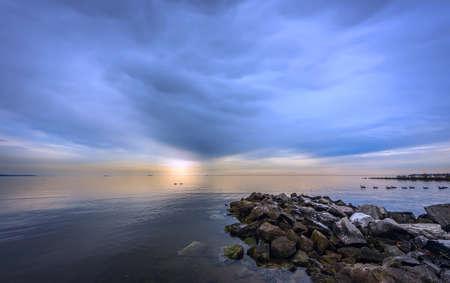 maryland: Sunset on the Chesapeake bay in Maryland Stock Photo