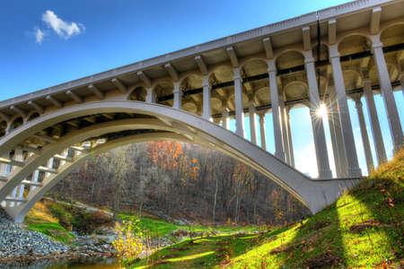 The B&O Bridge that spans the Patapsco River in Maryland Stok Fotoğraf