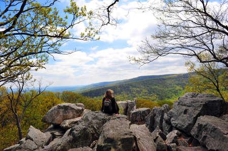 appalachian: Chimney Rock formation in the Appalachian mountains