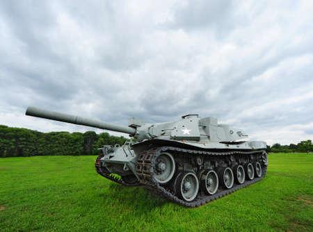 tanque de guerra: Tanque de Estados Unidos II Guerra Mundial Foto de archivo